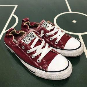 Converse Maroon Slip On Sneakers